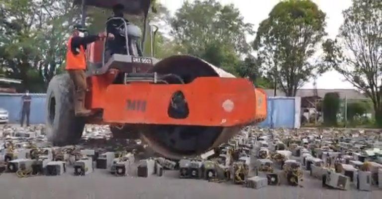 Правительство Малайзии уничтожило 1000 ASIC`ов майнивших на ворованном электричестве