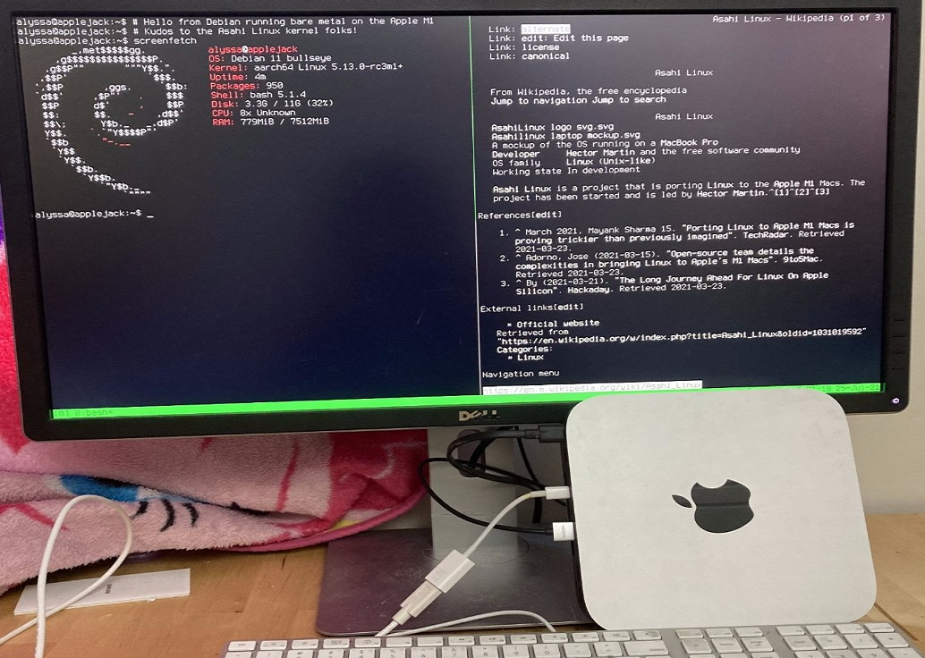 Linux Debian «подружили» с процессором Apple M1