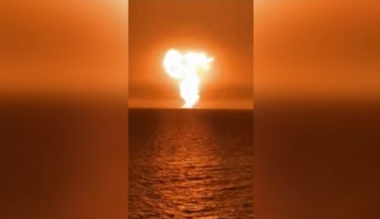 В Азербайджанской части Каспийского моря произошло извержение грязевого вулкана