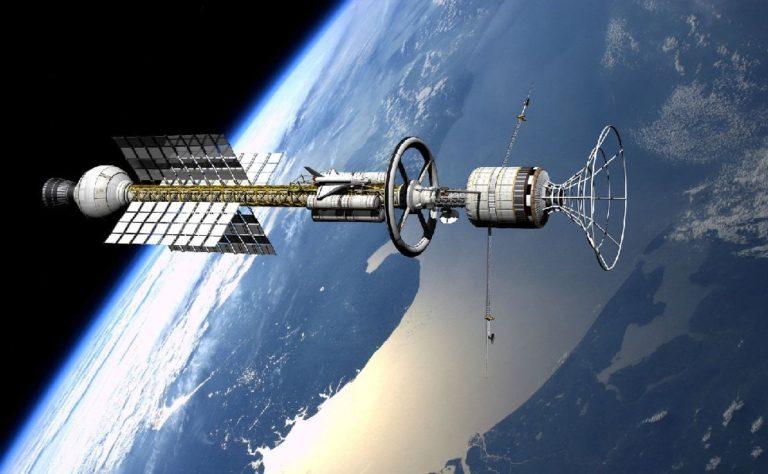 Китай планирует построить на орбите Земли гигантский космический корабль