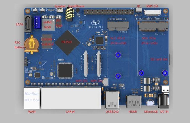 Производитель мини — компьютеров Banana Pi представил BPI-R2 Pro — идеальную основу для NAS хранилища