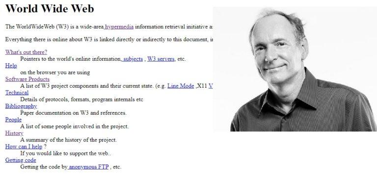 Найден самый первый в мире веб-сайт