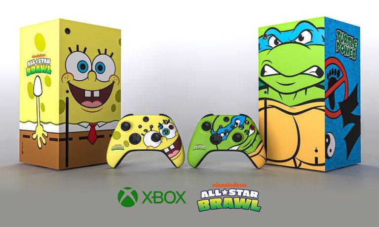 Microsoft выпустила консоли Xbox Series X в виде Губки Боба и Леонардо из Черепашек-ниндзя